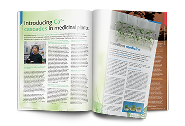 Introducing Ca2+ cascades in medicinal plants