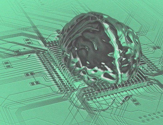 deep learning brain computer chip image